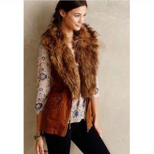 EUC Hei Hei for Anthro Faux Fur Vest